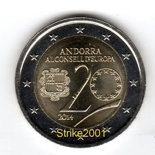 NEW !! 2 EURO COMMEMORATIVO ANDORRA 2014 Consiglio d' Europa !! disponibile !!