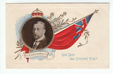 HM King George V God Save Our Gracious King Early 1900's Davidson Old Postcard