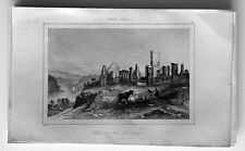 1837 La Rochelle Antique Print Ruins of Fort Ticonderoga, Fort Carillon New York