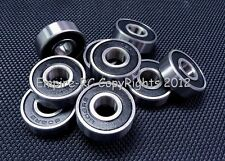 (25 Pcs) 608-2Rs (8x22x7 mm) Rubber Sealed Precision Ball Bearing (Black) 608Rs