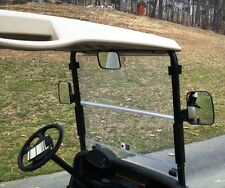 3PC XL Golf Cart Side and Rear View Mirror Set Univ for Club Car, EZ GO, Yamaha