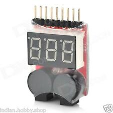 LiPo Battery Low Voltage Alarm cum Voltage Tester (1S-8S) - LiPo Buzzer