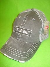 PETERBILT HAT / TRUCKER CAP / RAW EDGE PATCH CAP  * FREE SHIP IN U.S.A.*