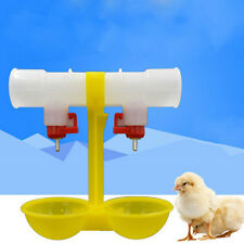 Double Outlet Drinking Hanging Chickens Cups Nipple Drinker Poultry Waterer