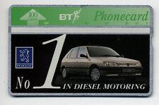 BT Phonecard - Peugot Cars | NO CONTROL RARE