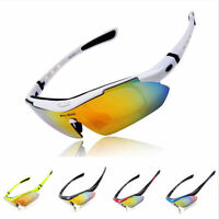 Cycling Riding Bicycle Bike UV400 Sports Sun Glasses Eyewear Goggles + 5 Lens