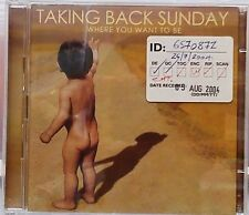 Taking Back Sunday - Where You Want to Be (CD 2004) + Victory Records Sampler CD