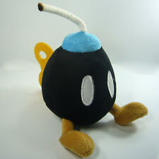 Super Mario Bros Plush Bob-omb Bomb Soft Toy Nintendo Stuffed Animal Black 5""