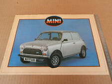DEPLIANT ORIGINALE AUSTIN MINI E - HLE - MAYFAIR '85 ITALIANO PROSPEKT BROCHURE