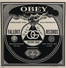 SHEPARD FAIREY ♦ 50 shades RECORDS serigraphie SIGNEE ♦ OBEY GIANT MINT