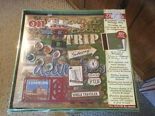 "NIB Travel Scrapbook Kit and Storage Box.  12 X 12"" Scrapbook and extras."