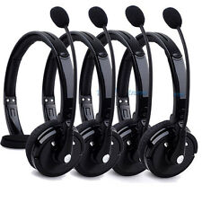 4PCS Wireless Bluetooth Handsfree Boom Mic Headset Headphone Over Head Trucker #