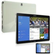 Coque Etui Housse silicone gel Samsung Galaxy Tab Pro 12.2 Blanc White + Film
