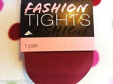 LADIES QUALITY STOCKINGS TIGHTS OX BLOOD BURGUNDY PLUM L/XL SEXY OVER KNEE EFFEC