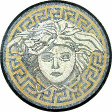 Medusa Goddess Medallion Design Floor Pool  Home Marble Mosaic MD942