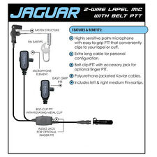 Tactical Ear Gadgets JAGUAR Quick Release Headset for ICOM F Series (See List)