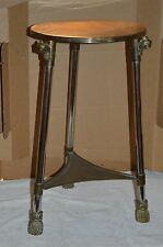 VTG SARREID BRASS GARGOYLE END/SIDE TABLE HOLLYWOOD REGENCY ART DECO PLANT STAND