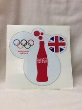 2012 Olympic Games Sticker. Coca-Cola Worldwide Sponsor! HTF. And Rare!