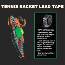 "New Tennis Racket Self Adhesive Lead Tape 1/2"" x 100"" Add Weight Easy to Install"