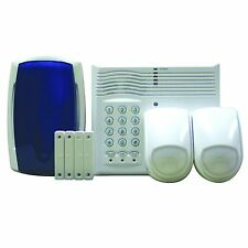 4 Zone 2-Wire Security Safety Alarm System LS400 Kit Burglar Home Intruder PIR