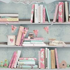 Arthouse Opera Curious Multi Wallpaper 694000 Books Shabby Chic Rustic Floral