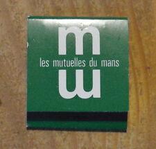 Pochette d'allumettes complète Mutuelles du Mans, années 1970-1980