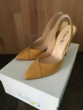 $295 EMERSON FRY V-Heel Sling - Dolce Cosmo (Mustard Yellow) - Sz 38 Shoes Pumps