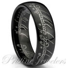 Lord of the Elvish Rings Black Tungsten Carbide Promise One Ring Mens Band New