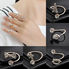 6PCS/Set Gold Lips Stars Stack Plain Cute Above Knuckle Ring Band Midi Rings