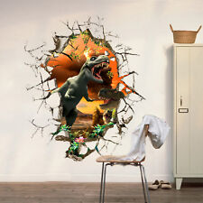 New Dinosaur 3D Breakthrough Wall Decals Removable Kids Sticker Home Decor