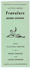 1955 Little Rock Travelers Spring Roster & Schedules (Media Guide)