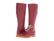 Dr. Martens Women`s Moya Tall Brogue Cherry Red US 7 EU 38 UK 5 Retail $300!