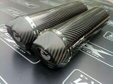 Ducati 750 Ss 90-98 Par De Carbono Ronda, carbono Salida Escape, silenciadores, Latas