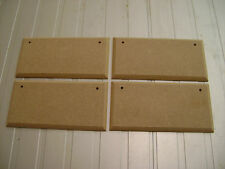 "4X  7"" x 3"" HAND CRAFTED MDF WOODEN RECTANGLES SHAPE PLAQUE BLANKS WITH HOLES"