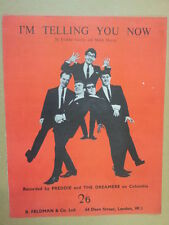 song sheet I M TELLING YOU Freddie + the Dreamers 1963