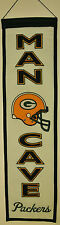 """Green Bay Packers Man Cave 32"""" Wool Heritage Banner NWT NFL"""
