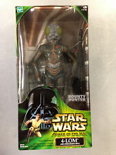 "2000 STAR WARS POWER OF THE JEDI 12"" INCH 1/6 4-LOM BOUNTY HUNTER ACTION FIGURE"