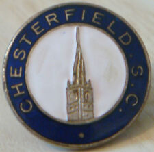 CHESTERFIELD Vintage SUPPORTERS CLUB Badge Maker VAUGHTONS B'ham 22mm x 22mm
