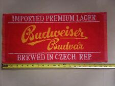 Budweiser Budvar Cotton Bar Towel Known a Czechvar in the USA