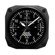 """Trintec 3.5"""" Classic Altimeter Desk Model Alarm Clock DM60 A Great Aviation Gift"""