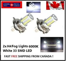 2x H4 6000K White 5630 33 SMD LED 12V Auto Car Fog Light Headlight Bulbs Bright