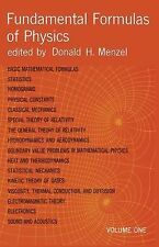Fundamental Formulas of Physics, Volume One (2nd Edition) by Menzel, Donald H...