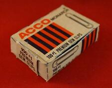"Vintage Acco #100 1"" Paper Clips Box Advertising Design"