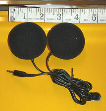 Black Ear-Pad (On the Ear) Motorcycle Helmet Speakers - HP-38s