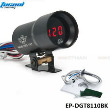 Compact 37mm Micro Digital Smoked Lens Exhaust Gas Temperature EGT Gauge Black