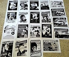 THE PLASMATICS 20 Punk flyer set, repro 8.5x11, WENDY O WILLIAMS, KBD PUNK