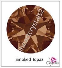 SMOKED TOPAZ 6 pcs 34ss 7mm Swarovski Flatback Crystal Rhinestones 2058 Xilion