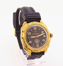 Vostok (Wostok) 2414A komandirskie Red star military mechanical men's wristwatch