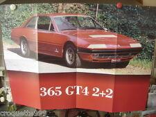 FERRARI 365 GT4 2+2 - Centerfold Poster Affiche 48 X 68 cm