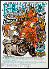 Rockin Jelly Bean Chopper Night 2008 Bike Car Show Poster Sexy Tattoo Mint Litho